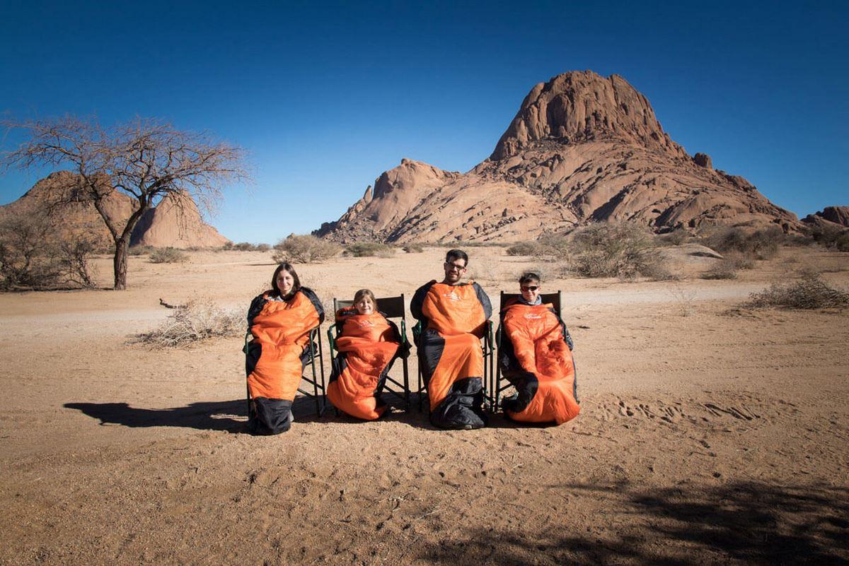 Test – śpiwór Troms w Namibii